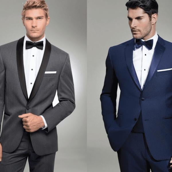 gray navy tuxedo