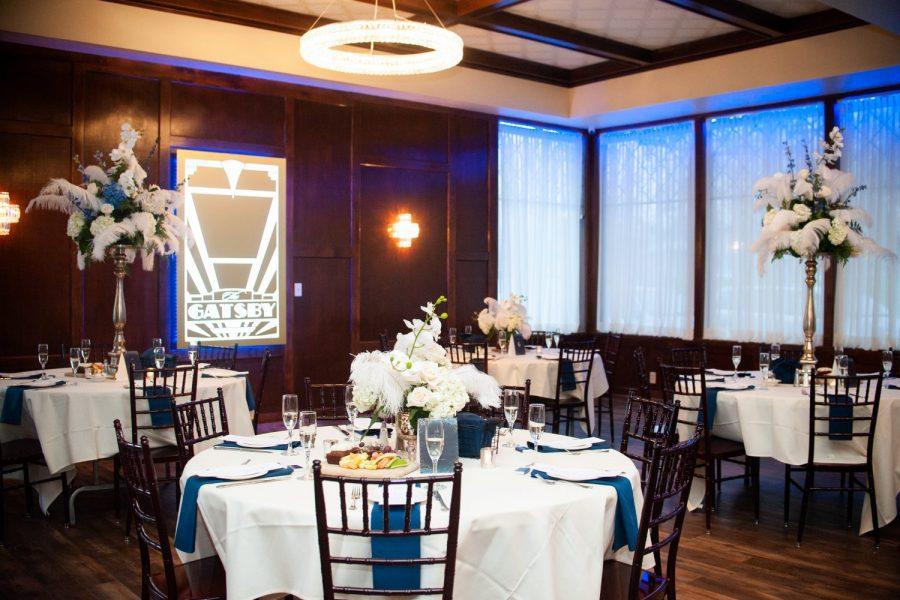 1920s wedding venue reception area