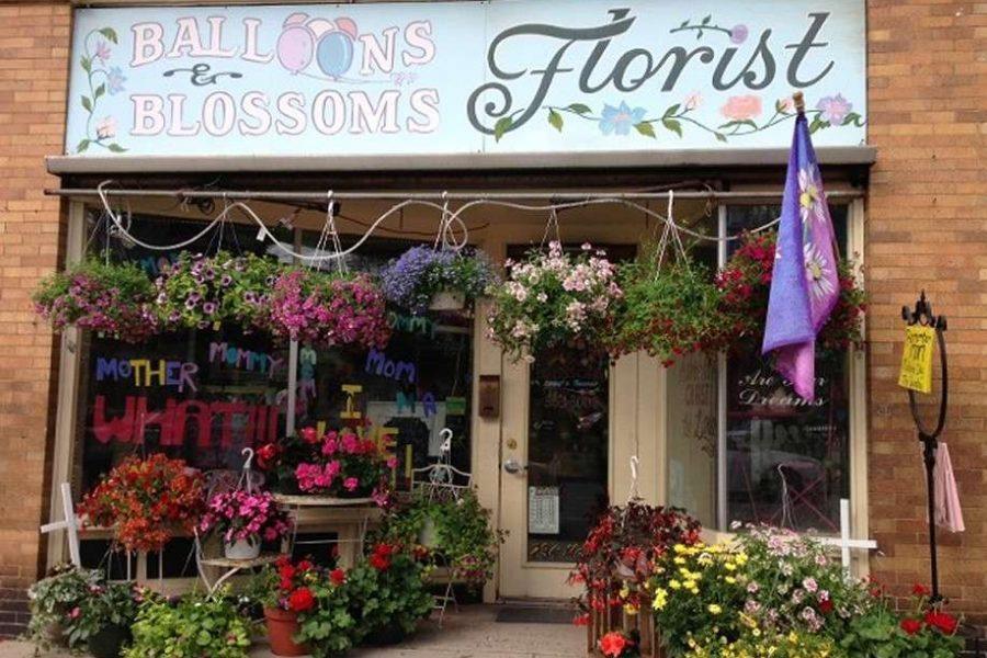 flower shop entrance
