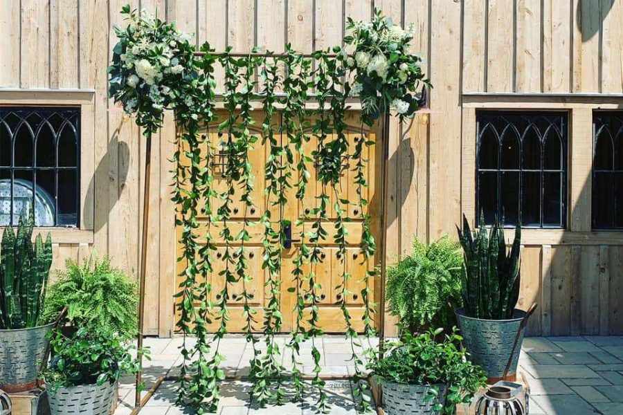 wedding arch with vines