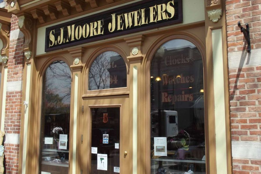 Skaneateles wedding jewelry storefront