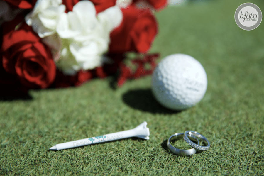 wedding rings on golf course