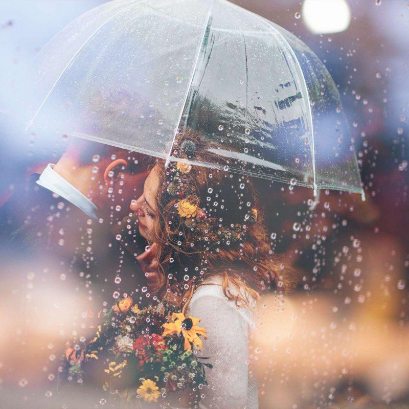 couple in the rain photo