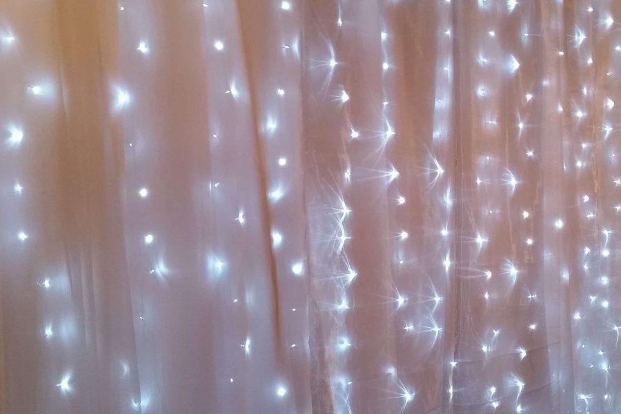 fairy lights curtain