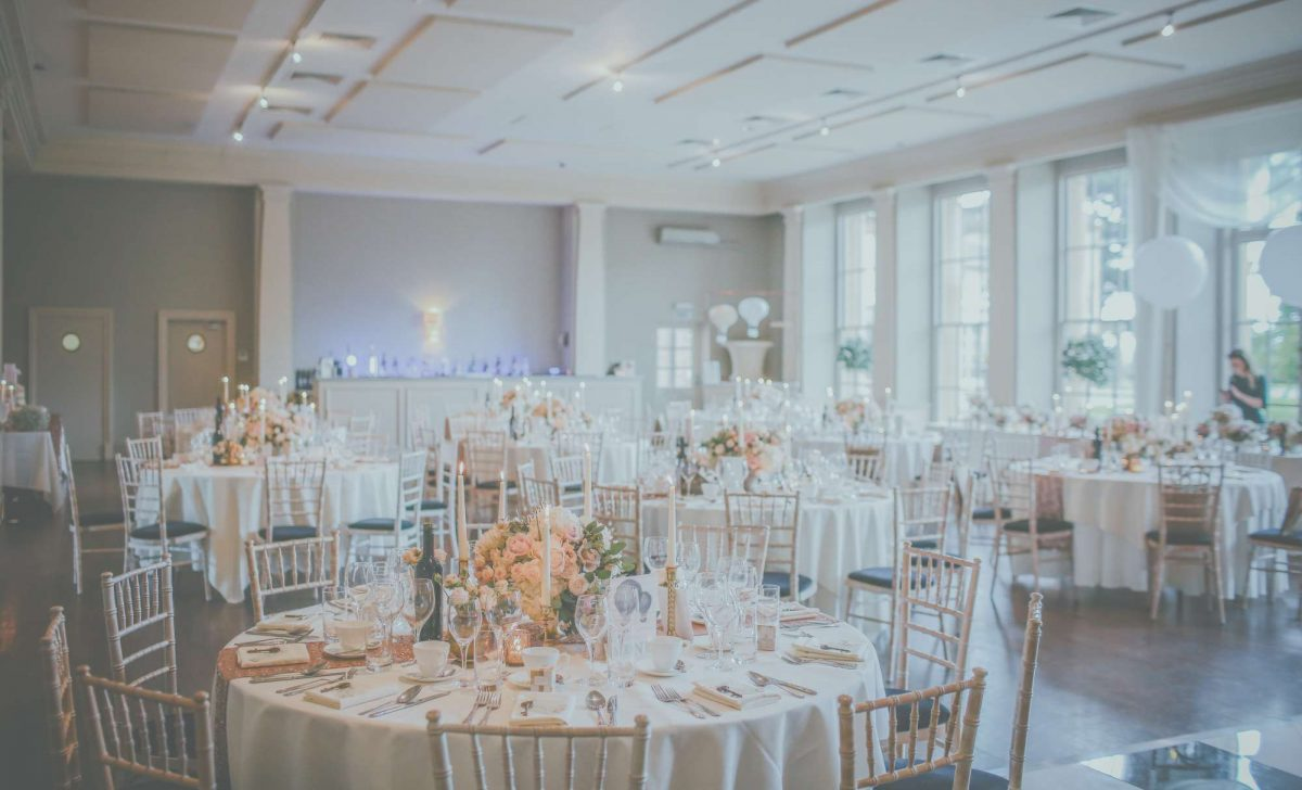 wedding reception with floral decor